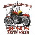 HELMETS SAVE LIVES - JESUS...